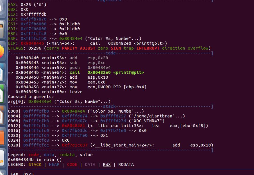 格式化字符串漏洞 format string exploit(一)