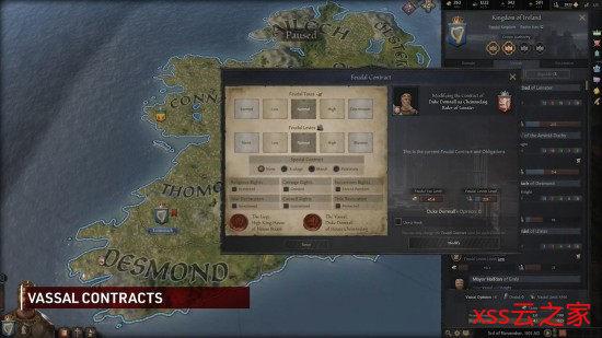 《十字军之王3》新演示 展示封臣相关机制