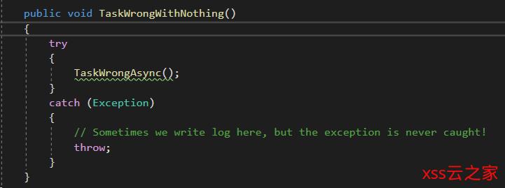 .NET Core学习笔记(3)——async/await中的Exception处理