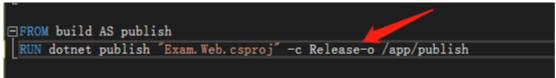 .Net Core 用自动生成Dockerfile的坑