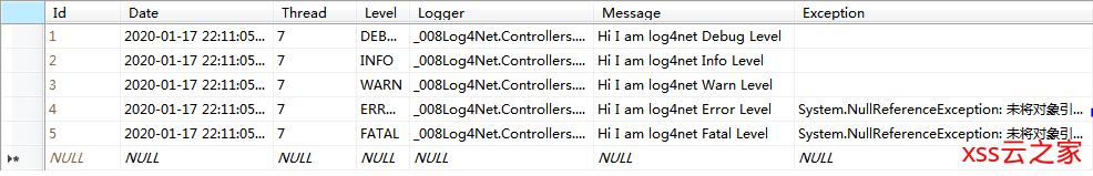 关于Log4Net的使用及配置方式