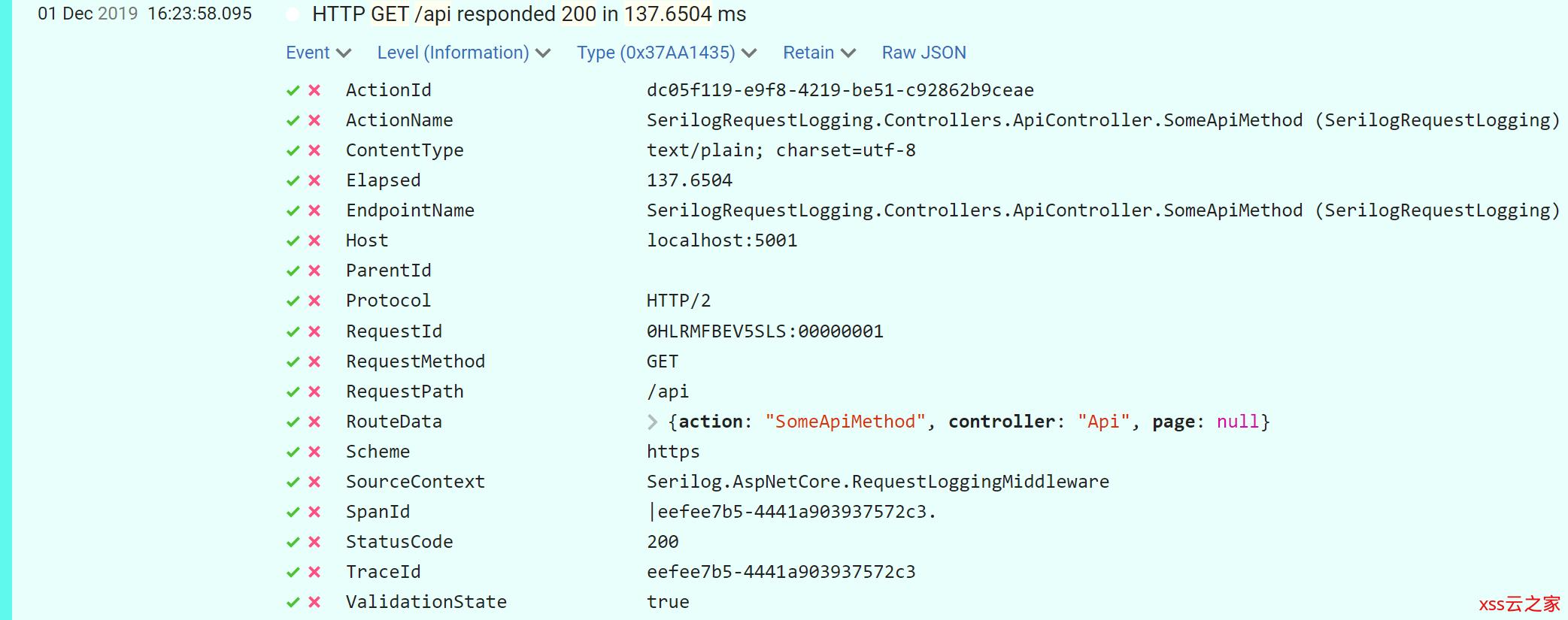 如何使用Serilog.AspNetCore记录ASP.NET Core3.0的MVC属性