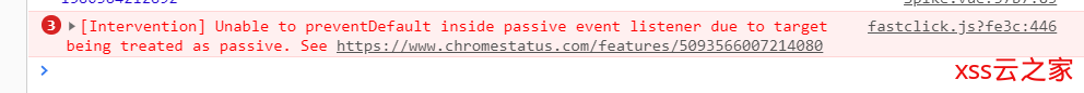 Unable to preventDefault inside passive event listener due to target being treated as passive