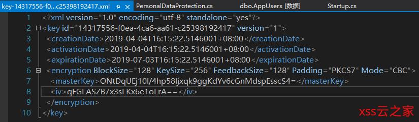 Asp.Net Core Identity 隐私数据保护
