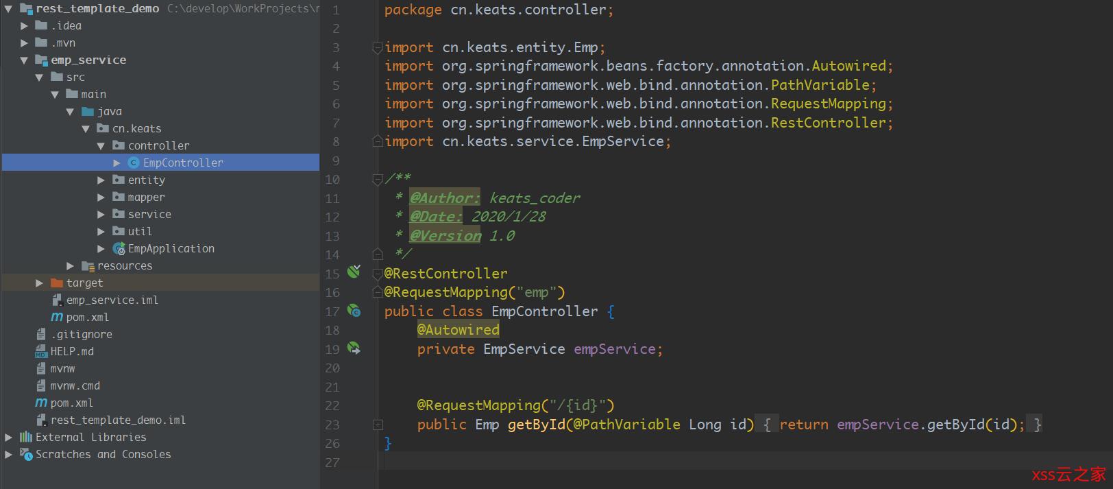 RestTemplate---Spring提供的轻量Http Rest 风格API调用工具