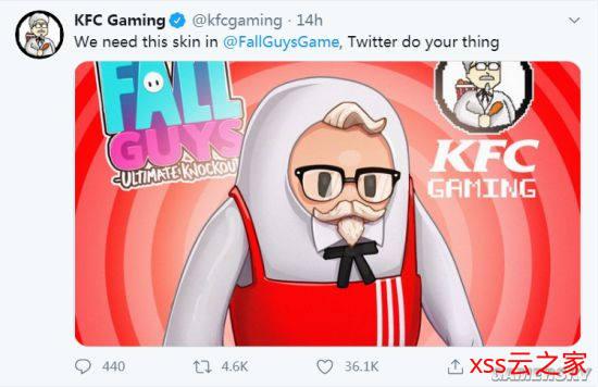 《糖豆人:终极淘汰赛》火爆全球 KFC、《皇室战争》等大IP纷纷请求出联动皮肤