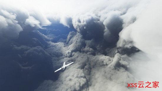 玩家在《微软飞行模拟》里追逐飓风 正面刚大自然