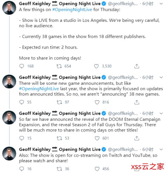 38款游戏将在科隆开幕之夜亮相 来自18家发行商
