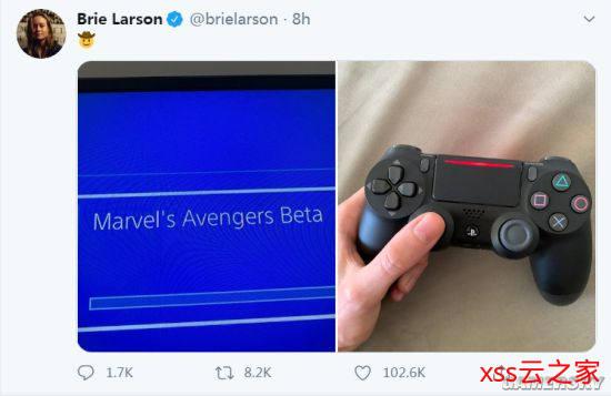 """""""惊奇队长""""主演布丽晒照 第一时间加入《漫威复仇者联盟》PS4的Beta测试中插图"""