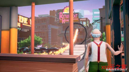 《模拟老大爷》公布2077版预告 老年人暴走沙盒游戏