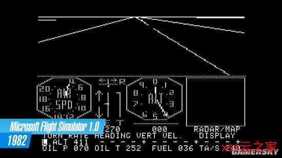 《微软飞行模拟》进化史:从黑白像素点到惊艳画质插图(1)