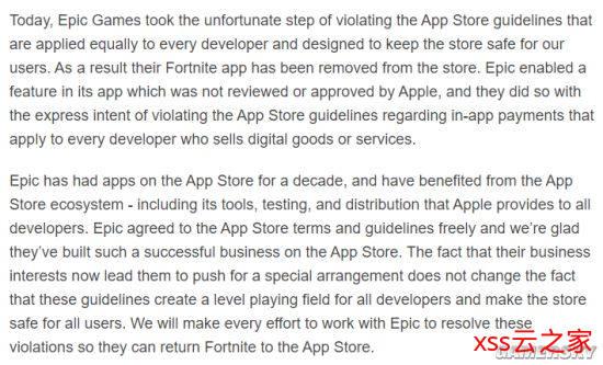 Epic起诉苹果垄断 发《堡垒之夜》短片呼吁玩家抗议插图(1)
