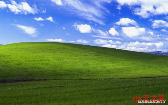 """《微软飞行模拟》玩家""""还原""""WinXP壁纸 草地有点秃"""