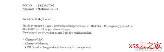Switch硬件FCC申请文件被发现 或与Nintendo Switch新机型有关插图