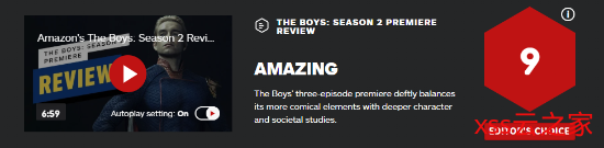 《黑袍纠察队》第2季前3集IGN 9分:精彩的开场