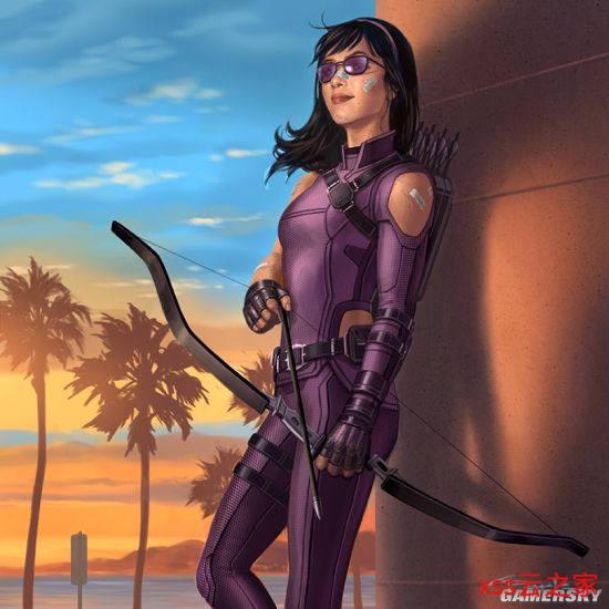 《鹰眼》二代鹰眼凯特·毕肖普概念图放出 紫墨镜和紫色战服更搭哦