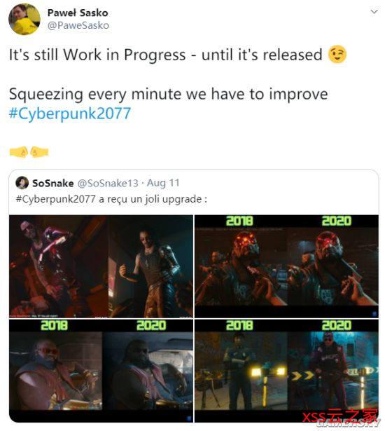网友发对比图表示《赛博朋克2077》画面有进步 CDPR:仍在制作中插图