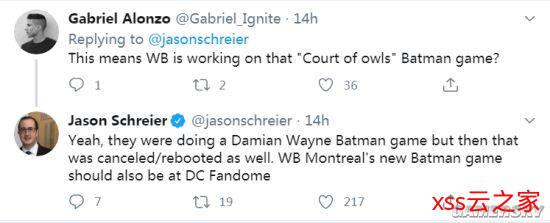 国外知名记者爆料:WB蒙特利尔《蝙蝠侠》新作将在DC FanDome公布