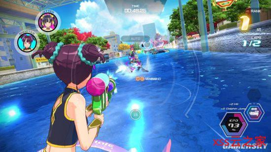 美少女竞速游戏《神田川Jet Girls》Steam发售 驾驶水上摩托决胜负