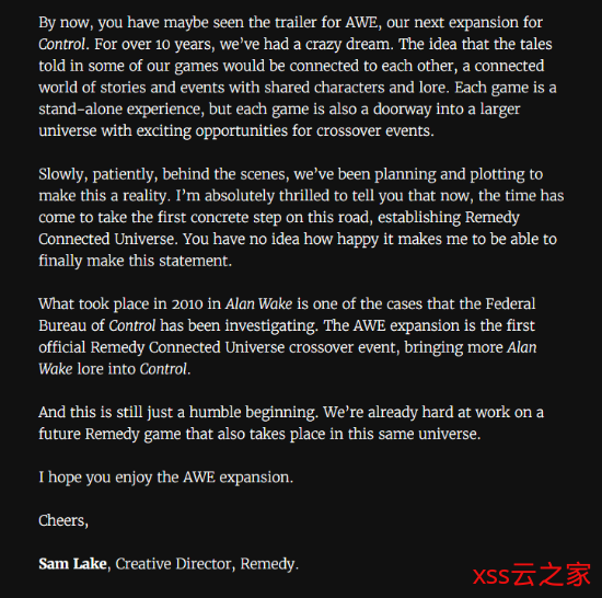 游民晨播报:Remedy已在开发下款作品 《毁灭战士:永恒》新DLC预告
